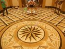 Beige Foyer Marble Floor Medallions For Outdoor / Indoor Decorative