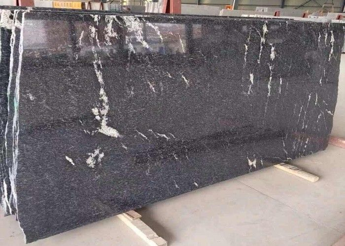 Black Natural Stone Slabs 10 - 60mm Thickness Optional FormA Approval