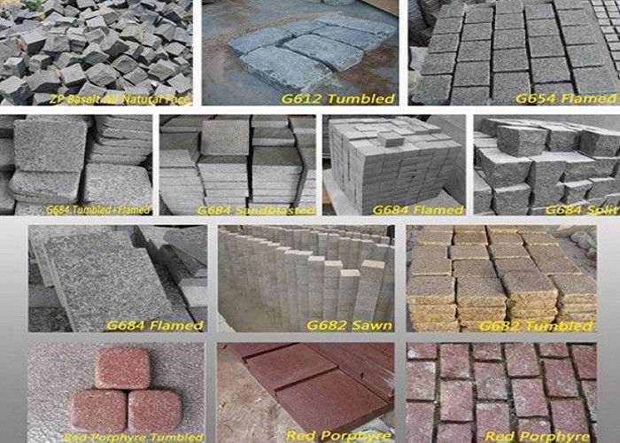 Outdoor Garden Natural Paving Stones Basalt Cobble Stone Raw Material