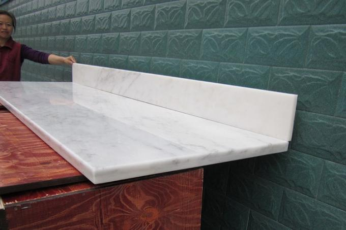 Edging full bullnose Oriental White Marble Countertop